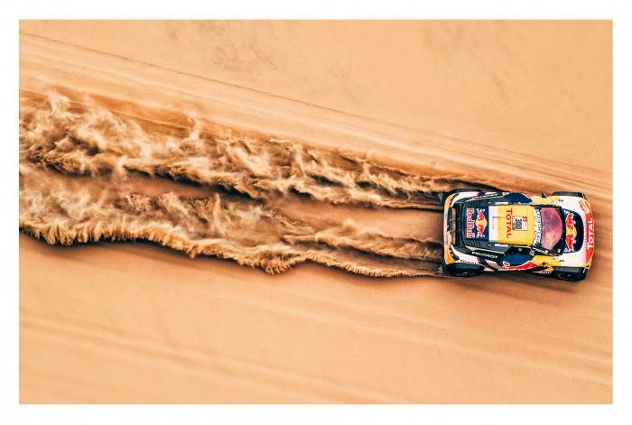 Модульная картина Гонки в пустыне из 4 частей