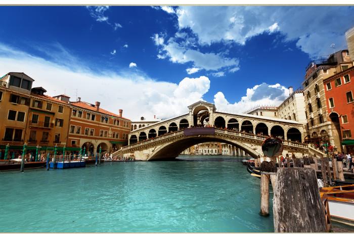 Модульная картина Венеция мост Риальто