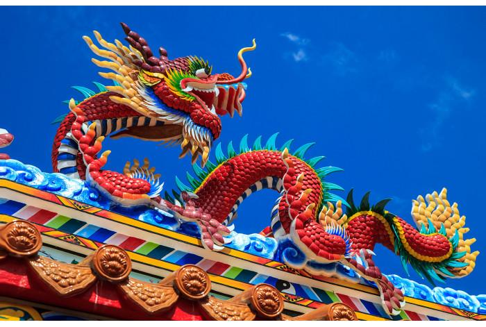 Модульная картина Дракон символ Китая