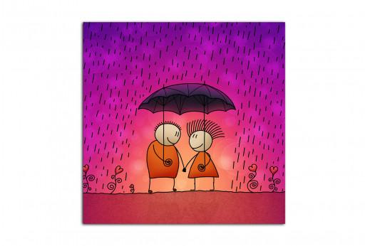 Картина Под дождем